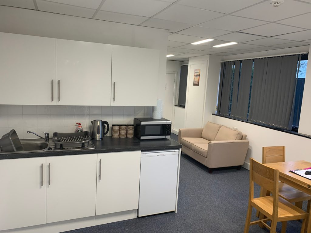 Epiview kitchen area for monitoring and administration staff so night time staff can make hot food
